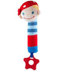 Игрушка-пищалка с прорезывателем мальчик моряк