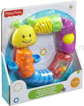 """Fisher Price Развивающая игрушка """"Разборная гусеница"""", код W9834"""