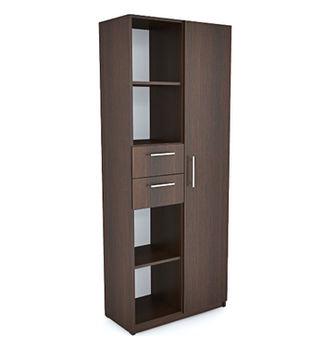Office Line №4 Шкаф комбинированного типа Орех темный