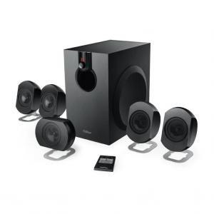 "Edifier M2600  Black, 5.1/25W+ 4x6W+8W RMS, remote control, all wooden, (sub.6,5"" + satl.3"")"