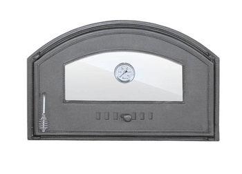 Дверца чугунная со стеклом правая с термометром DCHD4T