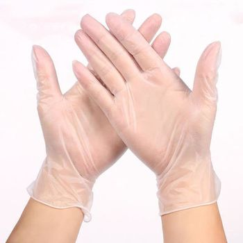 * Перчатки виниловые 100 шт