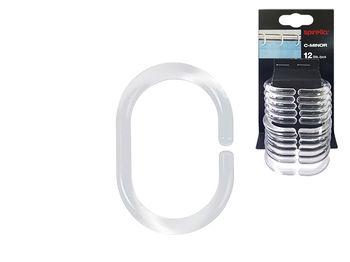 Кольца для шторки Spirella 12шт прозрачные, пластик