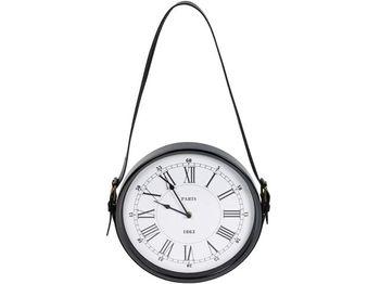 Часы настенные 30cm, на кожаном ремне 58cm, металл
