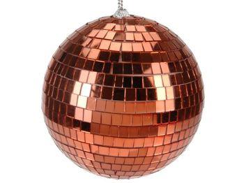 """Шар елочный зеркальный """"Disco"""" 180mm медный цвет"""