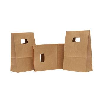 Бумажные крафт пакеты С Вырубной Ручкой 18*9*25
