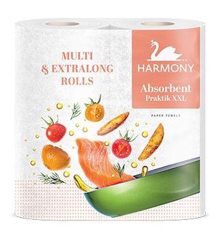 Полотенца бумажные Harmony Absorbent Practik Multi & Extralong XXL 2 слоя 35м*2