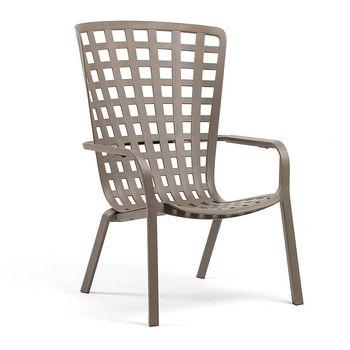 Лаунж-кресло Nardi FOLIO TORTORA 40300.10.000.04 (Лаунж-кресло для сада и террасы)