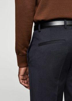 Pantaloni MANGO Albastru inchis in carouri 13040282