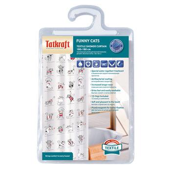 купить Tatkraft  FUNNY CATS штора для ванной 14664 в Кишинёве