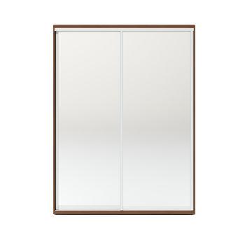 Шкаф купе 1600 2 зеркала, Орех тёмный