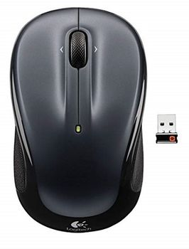 Logitech Wireless Mouse M325 Dark Silver, Optical Mouse for Notebooks, Nano receiver,  Retail