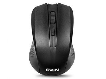 купить Wireless Mouse SVEN RX-300, Optical, 600-1000 dpi, 4 buttons, Ambidextrous, BlueLED, 2xAAA, Black в Кишинёве