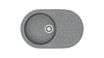 купить Матовые кухонные мойки из литьевого мрамора  (темн.сер.) F011Q8 в Кишинёве