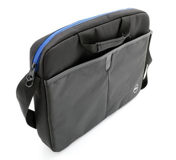"DeIl NB bag 15.6"" - Essential Topload, spacious compartment for laptop&documents, additional outer pocket for accessories such as pens, cell phone or wallet, adjustable shoulder strap, 38,5 x 25,9 x 3,4 cm, Black"