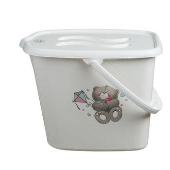 """Ведерко для подгузников """"Bears"""", белое, код 41130"""