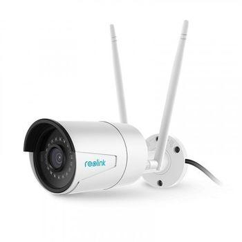 Беспроводная наружная IP камера видеонаблюдения Reolink RLC-510WA, 5MP, H.264, 4mm, IR30m, Mic, MicroSD, IP66
