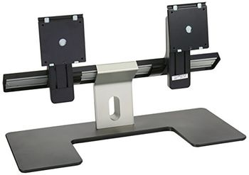 """Arm for 2 monitors 19""""-27"""" - Dell Dual Monitor Stand, Easily snap on two Dell monitor panels with VESA support, multi-adjustment capabilities such as Tilt, swivel, height adjust and horizontally slide the monitors on the stand,"""