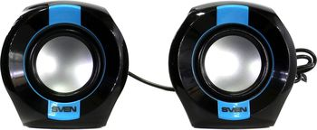 Speakers SVEN 150 Black (USB),  2.0 / 2x2.5W RMS, USB power supply, Volume control on the cable
