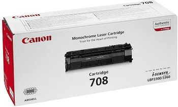 Cartridge Canon 708 (Q5949A) Black for LBP-3300/3360, HP LJ 1160/1320, 2500pages
