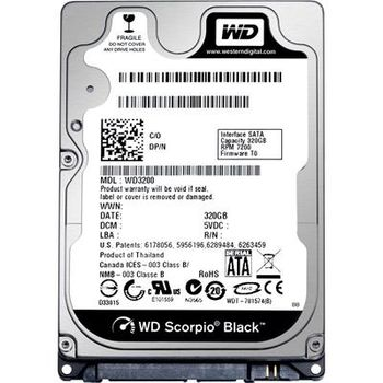 "2.5"" HDD 500GB  Western Digital WD5000LUCT, AV-25™, 5400rpm, 16MB, 7mm, SATAII"