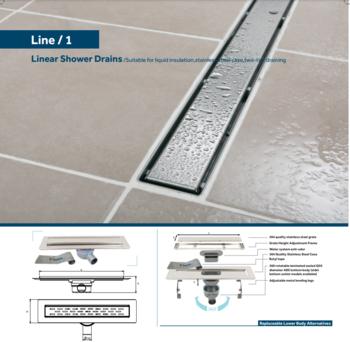 Линейный слив трап для душа Line 1 60cm Shower drain cube grate