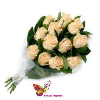 купить Милый букет из  Кремовых роз Ecuador 60-70СМ в Кишинёве