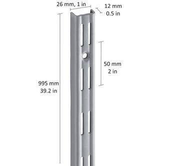 cumpără Profil perete perforație dublă 995 mm, gri în Chișinău