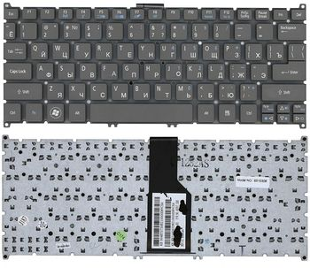 Keyboard Acer Aspire S3-391 S3-951 S5-391 S5-951 V5-121 V5-122 V5-123 V5-131 V5-132 V5-171 V3-371 V3-111 E3-111 One725 756 w/o frame ENG/RU Grey