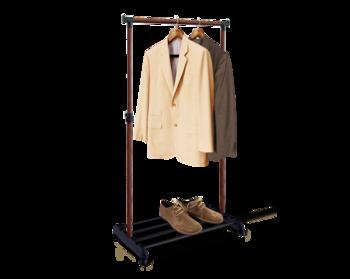 купить Стойка для одежды передвижная на колёсиках чёрный/тёмн.орех В1-65 в Кишинёве