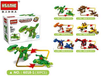 Конструктор HSANHE динозавр 9.5X7X4.4cm, 6 видов