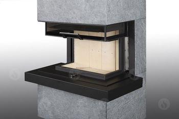 Дизайнерская аккумуляционная каминная печь ROMOTOP CARA C 02 - с выдвижной подъемной дверцей
