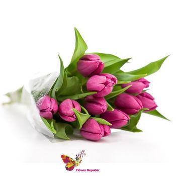 купить Буке из 11 малиновых тюльпанов в Кишинёве