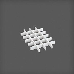 купить Разделитель на 24 ячейки 235x363x30 мм, белая в Кишинёве