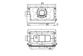 Каминная топка - AustroFlamm 80x64S / 80x64S II