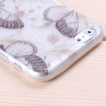 Чехол прозрачный Бабочки для iPhone 6