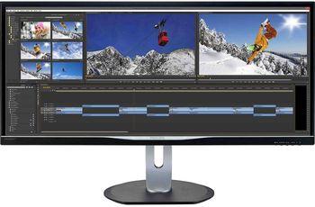"купить ""34.0"""" Philips """"BDM3470UP"""", Black (PLS, 3440x1440, 5ms, 320cd, LED40M:1, DP+HDMI+DVI-DL, Spk, Pivot) ( 34""""Ultra-wide (21:9), AH-IPS W-LED, 3440x1440 UWQHD, 0.232mm, 14 ms (5ms GTG), 320 cd/m², DCR 40 Mln:1 (1000:1), 1.07billion colors, 178°/178° @C/R>10, 30~83 KHz(H)/ 56~76Hz(V), DisplayPort + HDMI-MHL + DVI-DL + Analog D-Sub, Audio-In, Headphone-Out, Built-in speakers 3Wx2, USB 3.0 x2 + USB 2.0 x2-Hub + fast charging, HAS 180mm, Tilt -5/+20°, Swivel +/-170°, Pivot, VESA Mount 100x100 : MultiView PIP/PBP mode, Black)"" в Кишинёве"