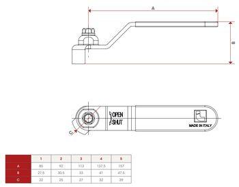 купить Рукоятка-рычаг плоская для крана (зеленая) L=14cm ITAP  084-4 в Кишинёве
