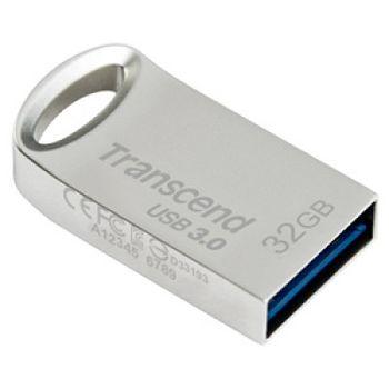 Transcend JetFlash 710 32GB Silver,(Read 90 MByte/s, Write 20 MByte/s) USB3.0, Metal case, Ultra-Small
