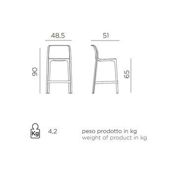 Scaun de semi bar Nardi NET STOOL MINI ANTRACITE 40356.02.000 (Scaun de semi bar pentru gradina exterior terasa)