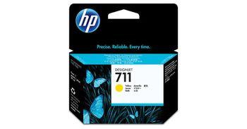 HP 711 29-ml Yellow Ink Cartridge (CZ132A), DesignJet T120, T520
