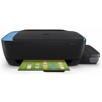 All-in-One Printer HP Ink Tank 319 + СНПЧ, Black/Blue, A4, up to 19ppm/16ppm black/color, up to 4800x1200 dpi, Up to 1000 pages/month, 7 segment LCD, Hi-Speed USB 2.0, Black/Blue (GT51XL Black 135ml, GT52 C/M/Y 70ml)