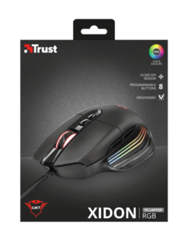 Mouse Trust GXT 940 Xidon RGB Gaming, Black