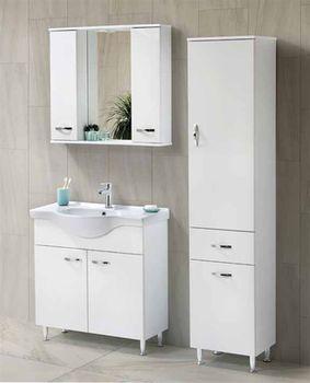 Шкаф с зеркалом Martat Olympia 80 White (12380)