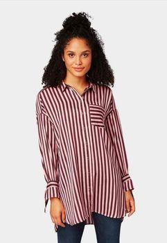 Блуза TOM TAILOR Розовый в полоску 1005021