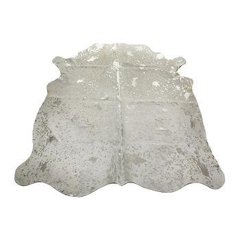 cumpără Covor din piele naturală COW WHITE ACID SILVER SKIN, alb cu stropi de argint în Chișinău