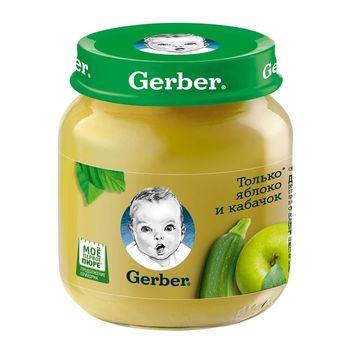 купить Gerber пюре яблоко и кабачек, 5+ мес., 130 г в Кишинёве