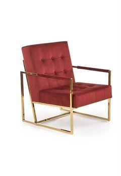 купить PRIUS fotel wypoczynkowy, tapicerka - bordowy, stelaż - złoty в Кишинёве