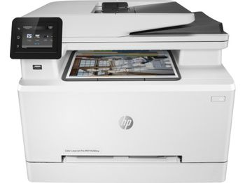 HP Color LaserJet Pro MFP M281fdn Print/Copy/Scan/Fax, Up to 21ppm, Duplex, 256MB RAM, 600x600 dpi, Up to 40000 p., 50-sheet  ADF, 6.85cm touch, PCL 5c/6, Postscript 3, USB 2.0, Gigabit Ethernet, ePrint, AirPrint™, White
