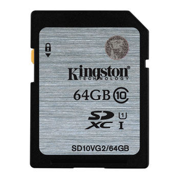 Kingston 64GB SDHC Card Class 10 UHS-I, 300x, Up to:45MB/s